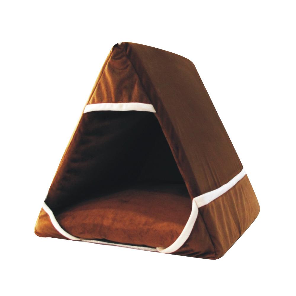 삼각형  첼린저 펫하우스 브라운