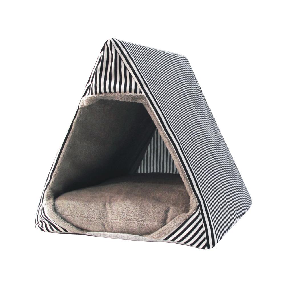 삼각형  첼린저 펫하우스 스트라이프