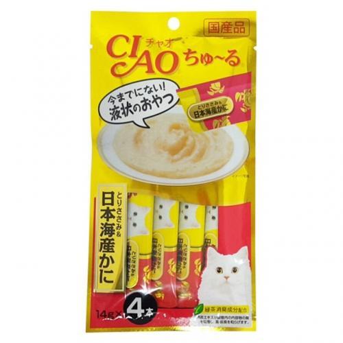 [이나바] 챠오츄루 닭가슴살+게살 (14gx4ea) (4SC-76)