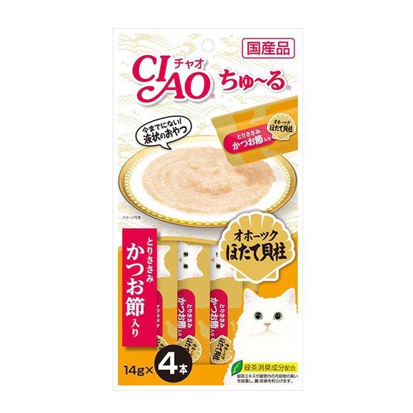 [이나바] 챠오츄루 조갯살+닭가슴살+가다랑어포 (14gx4ea) (SC-102)