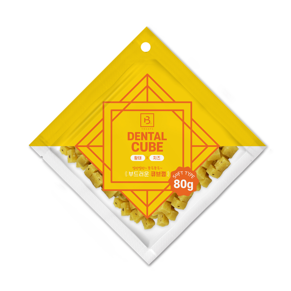 브리더랩 덴탈큐브 황태&치즈80g