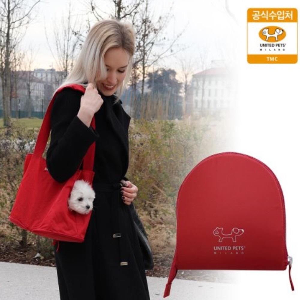 유나이티드 펫츠_접이식 휴대용 강아지 가방 (레드)