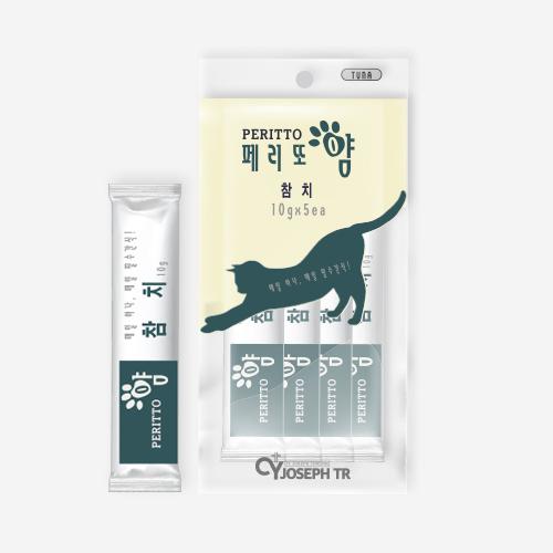 고양이 가성비 간식 츄르 페리또얌 참치 50g(10g×5개입)