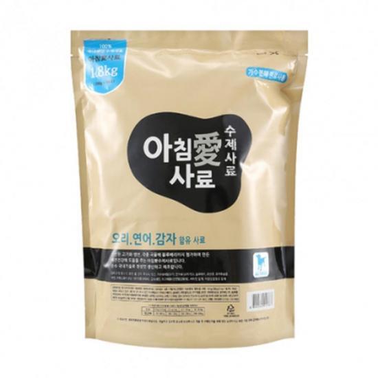 [아침애] 수제사료 오리 연어 감자 1.8kg