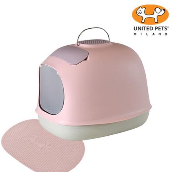 유나이티드 펫츠_ 미누 파스텔 고양이 화장실 (핑크)
