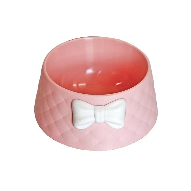 우쭈쭈 리본퀄팅식기(핑크)